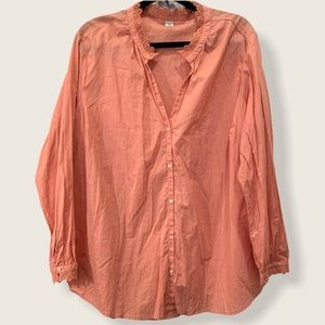 NWOT Old Navy muted coral button front top